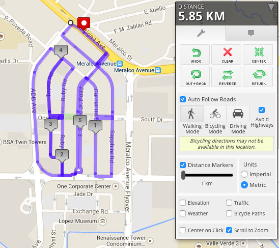Ortigas Route Running #TeamPerez
